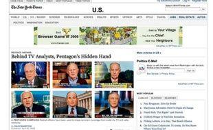 Capture d'écran de l'enquête parue dans le New York Times et récompensée par un prix Pulitzer 2009