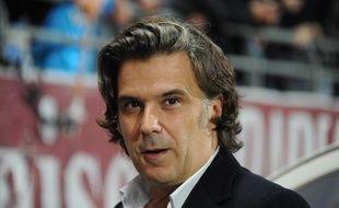 Vincent Labrune, président de l'OM, durant le match Toyes-OM le 21 octobre 2012.