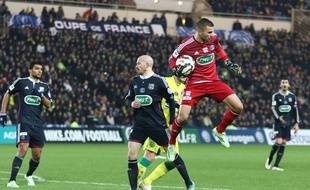 Ici lors d'un match de Coupe de la Ligue à Nantes, en janvier dernier, Anthony Lopes assure avoir toujours voulu prolonger avec l'OL. Pierre Minier/Ouest Medias