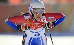 Marie Marchand-Arvier, le 8 février 2014 à Sotchi.