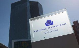 La Banque centrale européenne (BCE) à Francfort en Allemagne, le 15 avril 2015