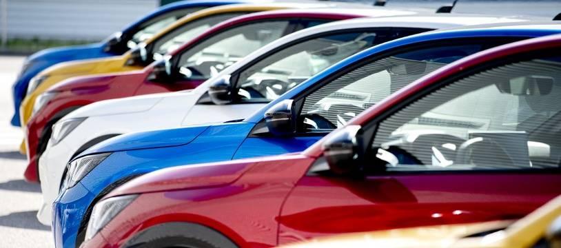 Image d'illustration de voitures produites par PSA.