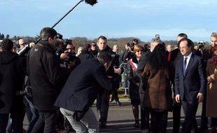 François Hollande en Corrèze le 18 janvier 2014.
