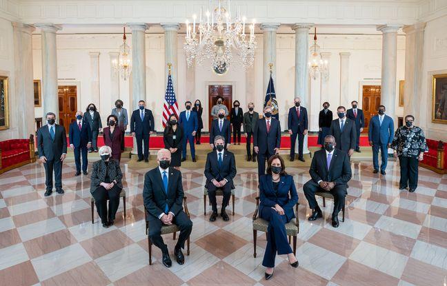 Le cabinet du président américain Joe Biden à la Maison Blanche, le 1er avril 2021.