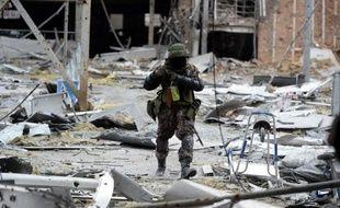 Un rebelle prorusse le 26 janvier 2015 à Donetsk