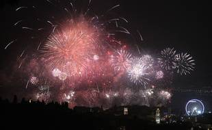 Un feu d'artifice en 2011, à Nice.