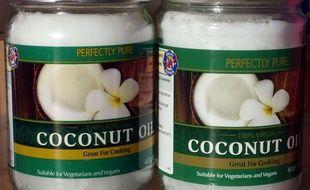 Huile de noix de coco (illustration).