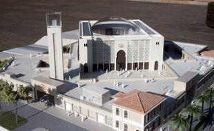 Le projet de grande mosquée à Marseille.