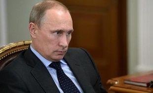 Le président Vladimir Poutine le 24 juillet 2014 dans sa résidence de Novo-Ogaryovo près de Moscou