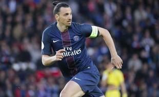 Zlatan Ibrahimovic lors du match entre le PSG et Nantes le 14 mai 2016.
