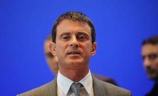Le ministre de l'Intérieur Manuel Valls, le 8 octobre 2013 lors d'un déplacement à Forbach, en Moselle.