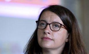 Cécile Duflot lors d'une conférence de presse, le 22 juin 2016 à Notre-Dame-des-Landes.
