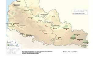 La Carte Des Sites Naturels Visiter Dans Rgion