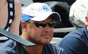 L'entraîneur de Novak Djokovic, Marian Vajda, à Roland-Garros, le 30 mai 2012.