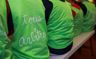 De jeunes footballeurs lors d'une journée de sensibilisation à l'arbitrage, à Paris (illustration).