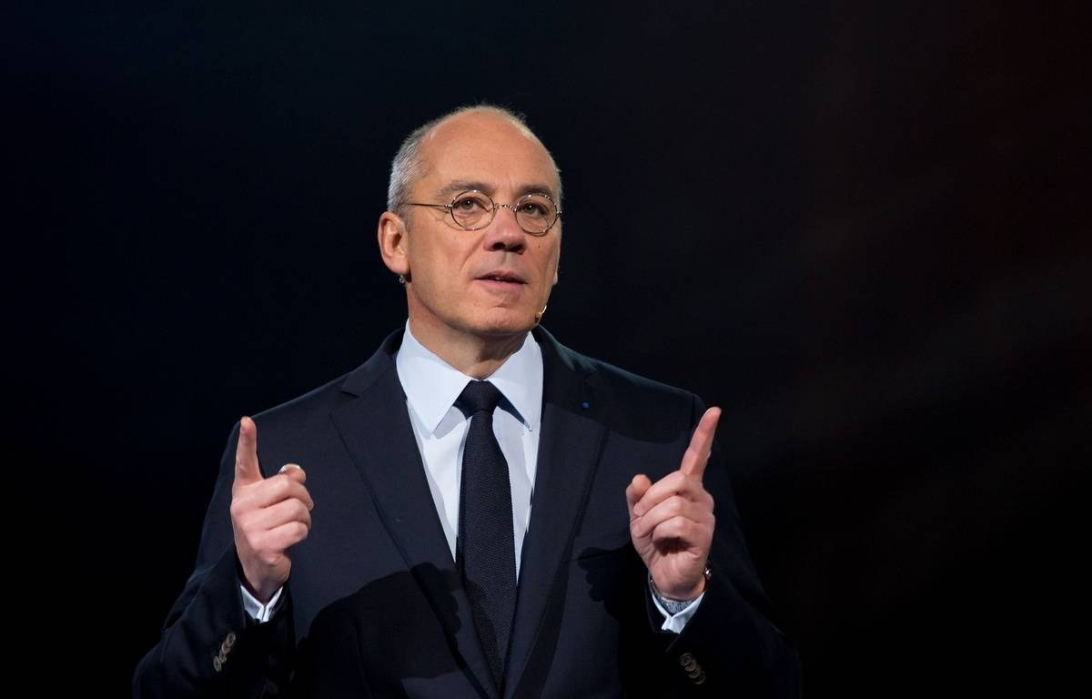 Stéphane Richard, le patron d'Orange, qui contrôle Dailymotion, le 17 mars 2015. – SIPA