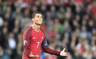 Cristiano Ronaldo lors du match entre le Portugal et l'Autriche le 18 juin 2016.