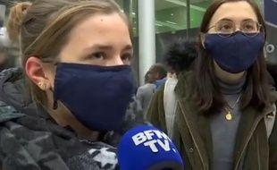Deux des étudiantes lilloises de retour de Chine, en proie à l'épidémie d'un coronavirus.
