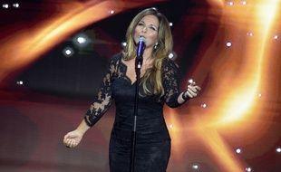 Hélène Ségara à la soirée de lancement du Téléthon, en décembre 2016.