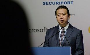 Meng Hongwei, ancien president d'Interpol, le 4 juillet 2017 à Singapour.