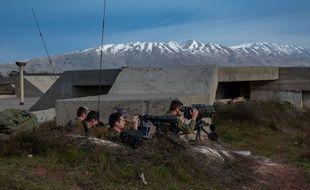 Soldats israéliens dans la région du Golan