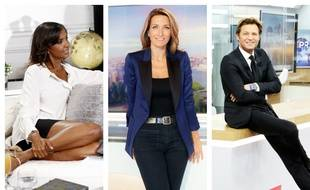 Karine Le Marchand, Anne-Claire Coudray et Laurent Delahousse.