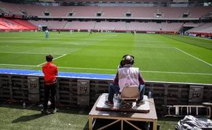 Un cameraman lors de Nice-Montpellier en avril 2021.