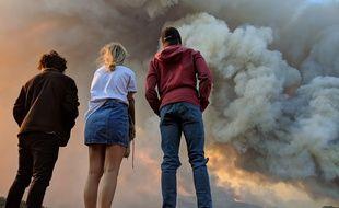 Le Woolsey fire qui a ravagé l'ouest de Los Angeles, le 10 novembre 2018.