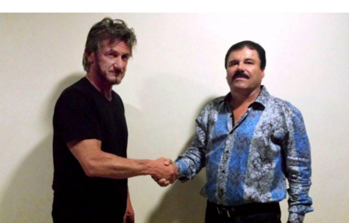 Capture d'écran du site du magazine Rolling Stone, qui a publié cette photo de Sean Penn avec le nacrotrafiquant mexicain.  – Sean Penn via Rolling Stone