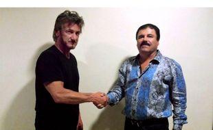 Capture d'écran du site du magazine Rolling Stone, qui a publié cette photo de Sean Penn avec le nacrotrafiquant mexicain.