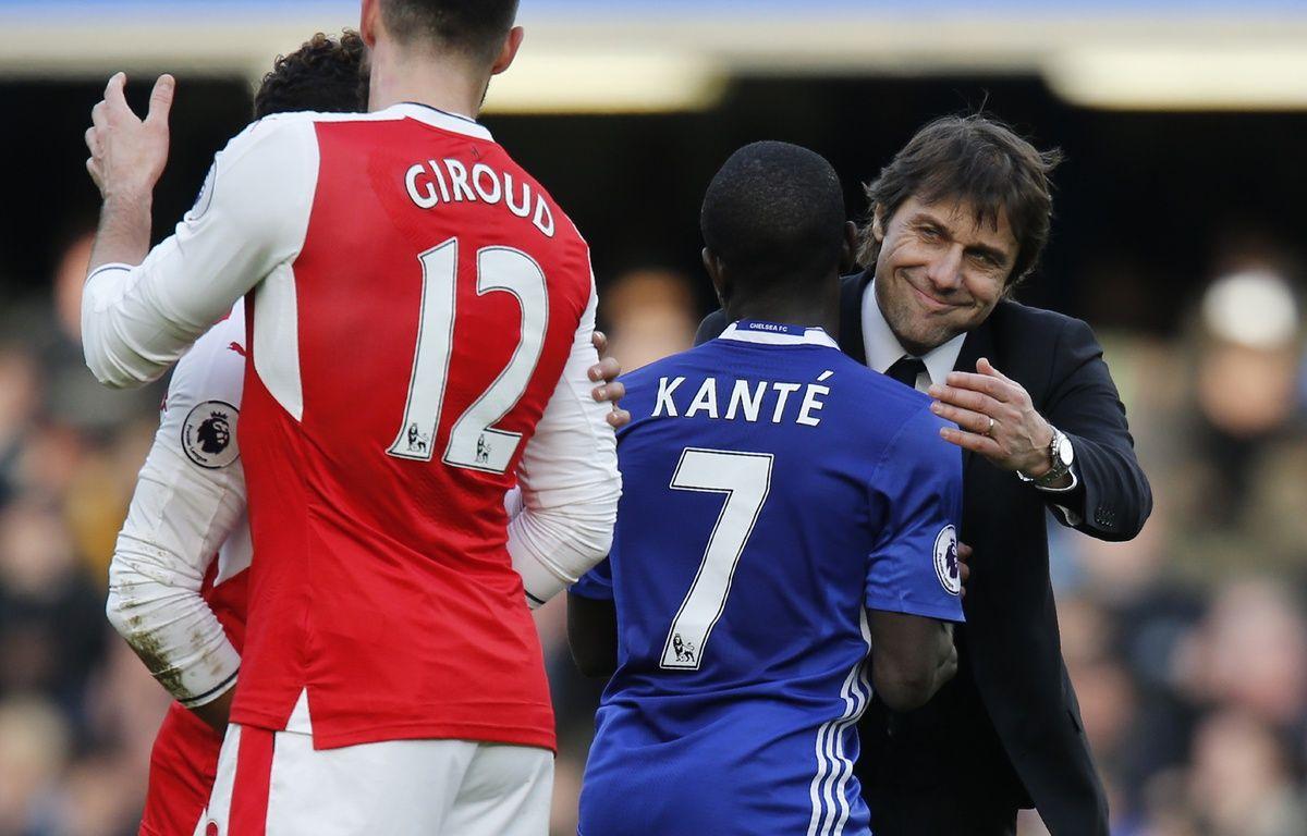 Conte, Kanté et Giroud – Ian KINGTON / AFP
