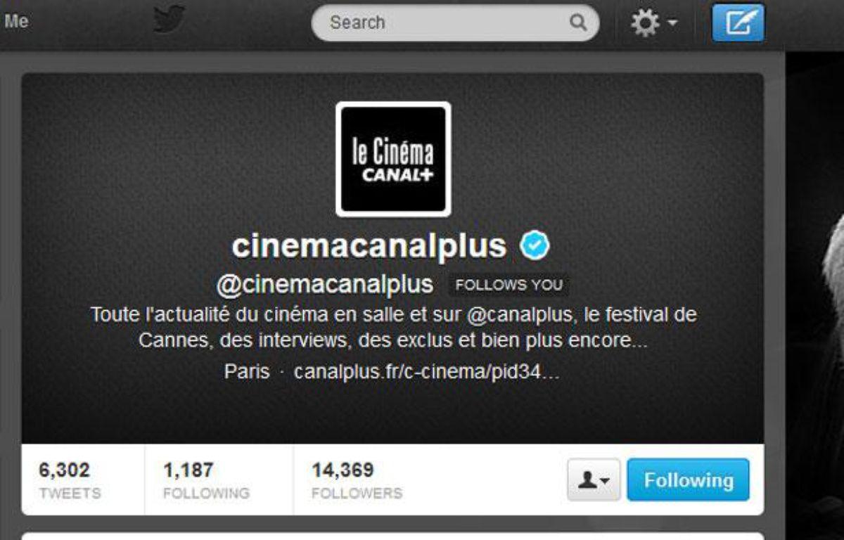 – Capture d'écran du compte twitter  cinéma de Canal plus