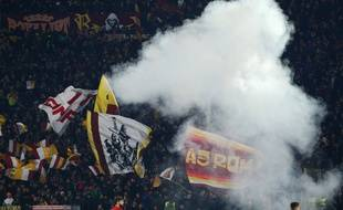 Des supporters de l'AS Rome