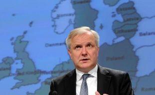 Le commissaire européen aux Affaires économiques et monétaires Olli Rehn, le 5 mars 2014 à Bruxelles