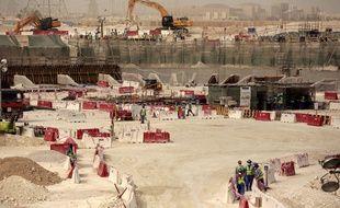Le chantier du stade d'Al-Wakra, le 4 mai 2015.