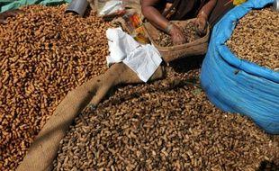 Un vendeur indien des arachides le 16 novembre 2009 à Bangalore