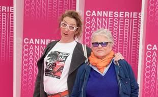 """Corinne Masiero and Josée Dayan de la série """"Capitaine Marleau"""" au festival international des séries à Cannes le 8 avril 2018"""