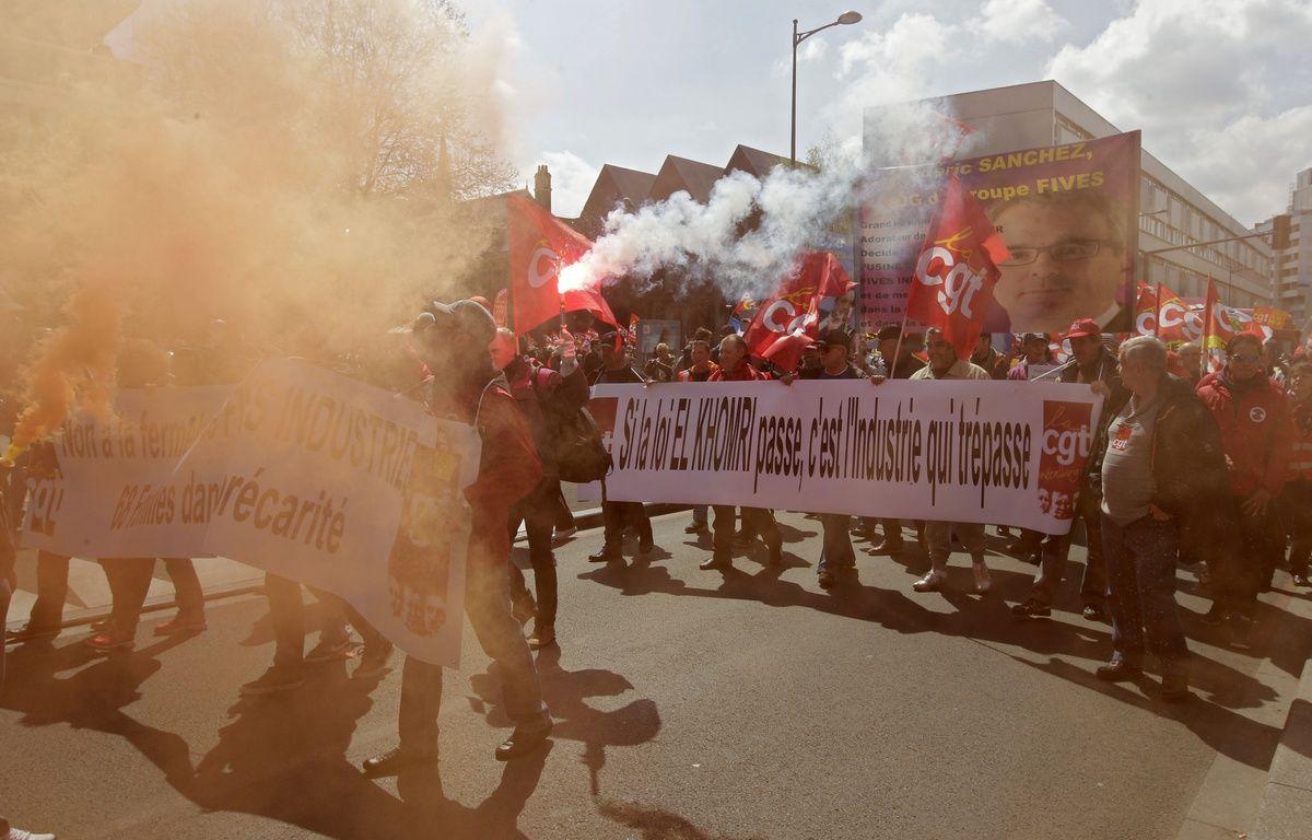 Manifestation à Lille contre la loi El Khomri. – M.Libert/20 Minutes
