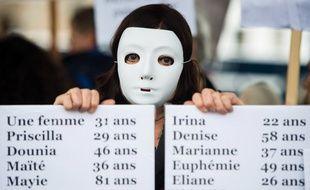 Manifestation contre les féminicides à Marseille, le 23 novembre 2019.