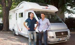 Les deux créateurs de la start-up Adrien Pinson et Benoît Panel.