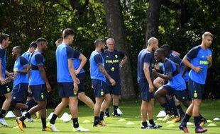 Claudio Ranieri à l'entraînement avec son groupe à la Jonelière.