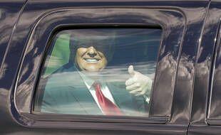 Donald Trump à son arrivée en Floride le 20 janvier 2021.