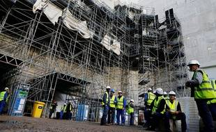Le chantier de l'EPR de Flamanville en 2016.