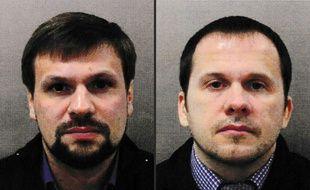 Les deux suspects russes, identifiés comme Ruslan Boshirov et Alexander Petrov.