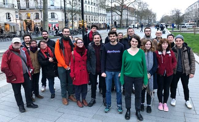 La liste NPA pour l'élection municipale à Nantes.