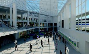 Les nouveaux bâtiments de la gare Matabiau, côté Marengo - vue non contractuelle.