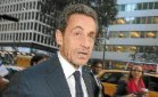 Nicolas Sarkozy, à New York.