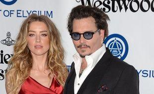 Les acteurs Amber Heard et Johnny Depp du temps de leur mariage