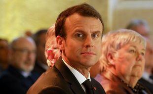 Emmanuel Macron à la Conférence des évêques, le 9 avril 2018.