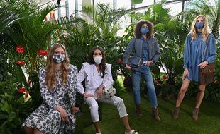 Des modèles pendant le show de Rebecca Minkoff lors de la fashion week de New York.
